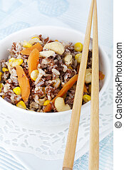 Fried Rice - Asian Healthy Fried Rice, served with...