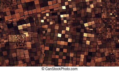 Abstract flying squares