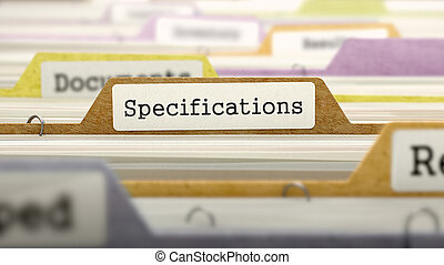 File Folder Labeled as Specifications - File Folder Labeled...