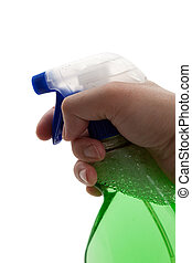Spray Bottle with white background