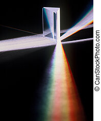 Light Refracted Through a Prism - Light is being refracted...