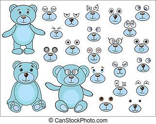 Applique, body parts of a bear