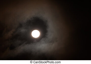 New Moon Night - Full Moon Face Rise Above The Darkness, New...