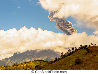 Tungurahua Volcano, Violent Day Explosion, Ecuador, South...
