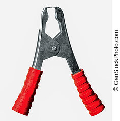 Isolated Crimping Pliers, Studio Shooting, White Background