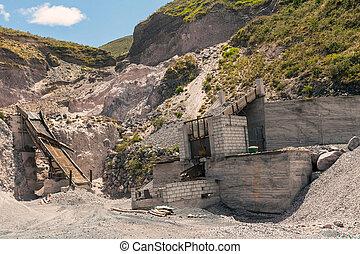 Limestone Quarry, Andes Mountains - Limestone Quarry, Mining...