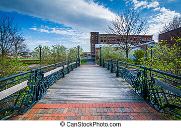 Bridge over Carroll Creek, in Frederick, Maryland