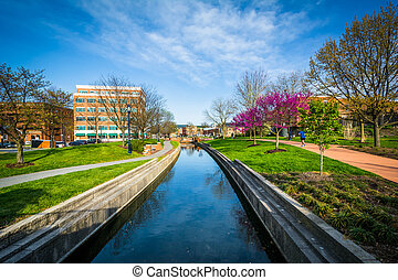Carroll Creek, in Frederick, Maryland.