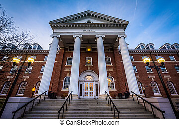Coblentz Hall, at Hood College, in Frederick, Maryland.