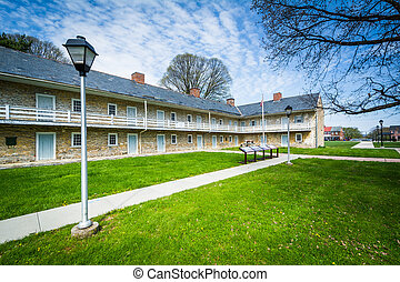 The Hessian Barracks, in Frederick, Maryland.