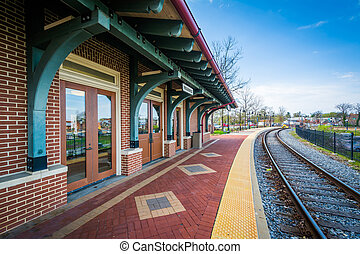 The train station in Frederick, Maryland.