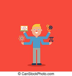 STEM education character concept - STEM education - science,...