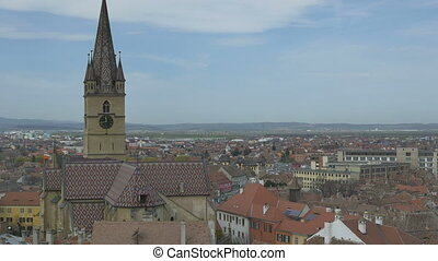 Hermanstadt Lutheran Cathedral - Top view of Hermanstadt...