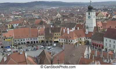 Sibiu Medieval Council Tower - View of Sibiu medieval The...