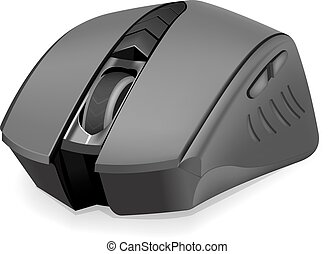 Photorealistic computer mouse - Black photorealistic...