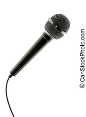dynamic microphone, isolated on white background, clipping...
