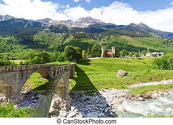 Stampa, pałac, Castelmur,