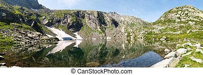 Val Sambuco, lake of Sassolo - Vallemaggia, Ticino,...