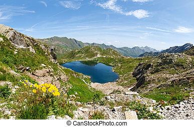 Val sambuco, Superior lake - Vallemaggia, Ticino,...