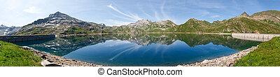 Val sambuco, lake of Naret - Vallemaggia, Ticino,...
