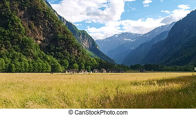 San Bernardino Pass - Canton of Grisons, along the Alpine...