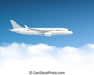 Airplane In Air Poster - Airplane poster which flies at...