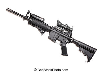 M4A1 carbine without magazine - M4A1 AR-15 14,5 carbine with...