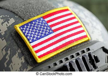 USA flag on helmet