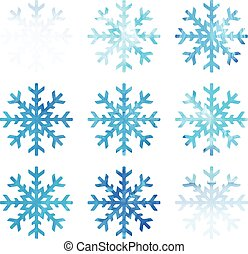 Watercolor snowflakes. Vector