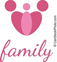happy family design template on white background.Vector