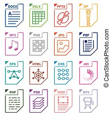 File format set icons