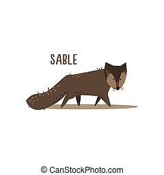 Sable Vector Illustration - Sable Drawing For Arctic Animals...