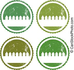 Set of illustration garden labels.Vector