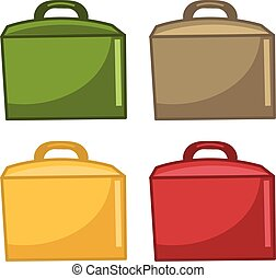 Icons paper bags for food. Vector