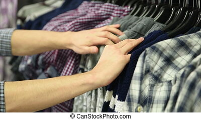 Men suits in a retail store