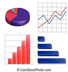 business charts infographics linear circular and column on...