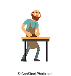 Profession Joiner Vector Illustration - Profession Joiner...
