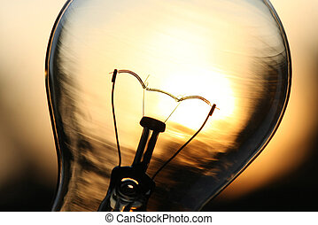 光, 在上方, 陽光, 燈泡