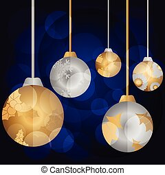 Bright color christmas balls. Vector illustration