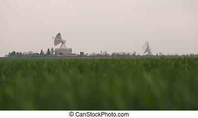 Observatory antenna center in Ukraine