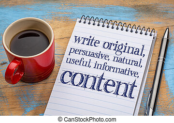 write original, useful, informative conctent - write...