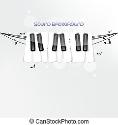 Piano keyboard concept background