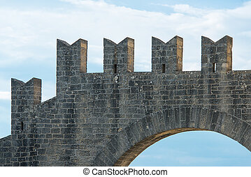 Battlements of a castle