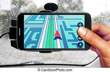 car navigation - portable device for navigation of car