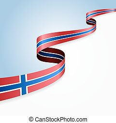 Norwegian flag background Vector illustration - Norwegian...