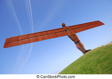 Angel of the North - View of Angel of the North statue, near...