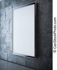Light softbox on the wall in modern interior. 3d rendering -...