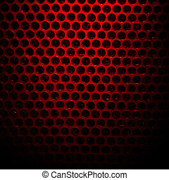 Bubble wrap lit by red light Abstract background