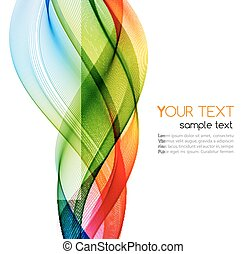 Vector Abstract color wave