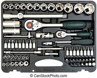 箱子, 白色, 集合, 工具, 被隔离
